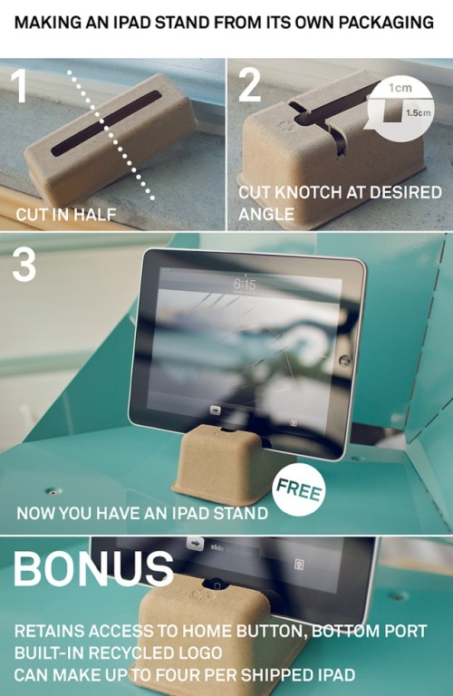 How to make an iPad stand - for free